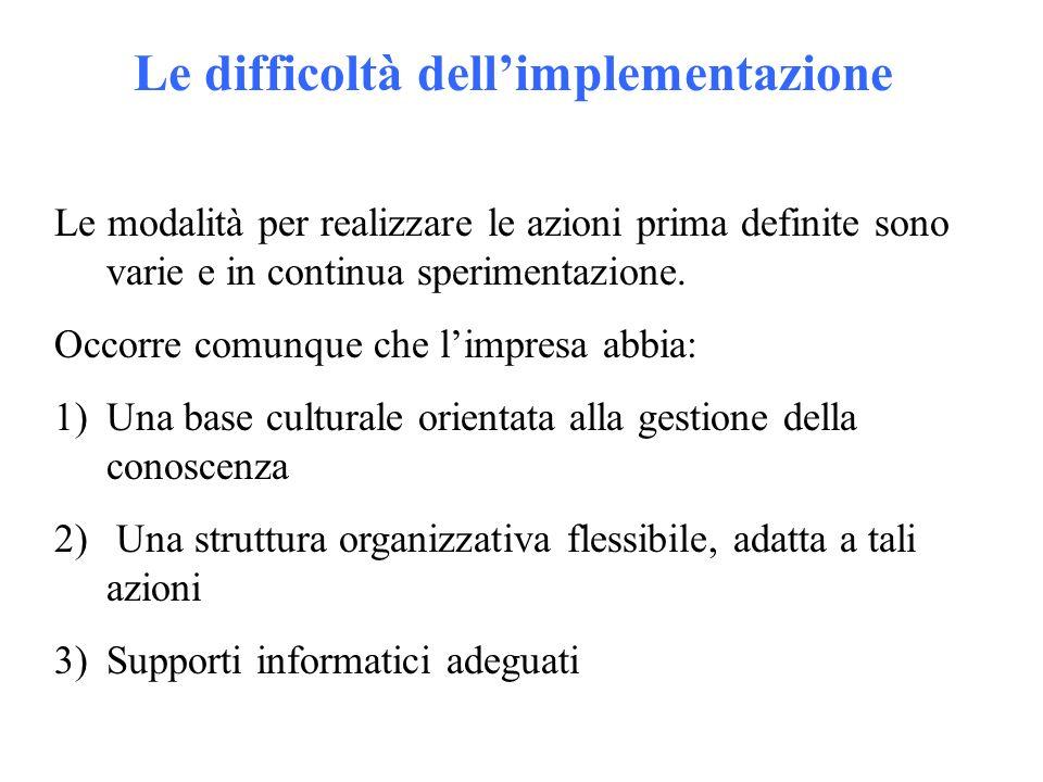 Le modalità per realizzare le azioni prima definite sono varie e in continua sperimentazione.