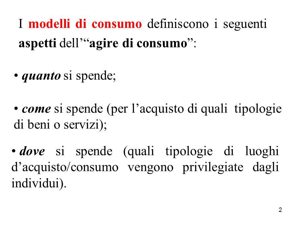 3 Levoluzione dei modelli di consumo incide su: * la disciplina di marketing (studi, approcci, applicazioni); * le strategie e le politiche di marketing delle imprese.