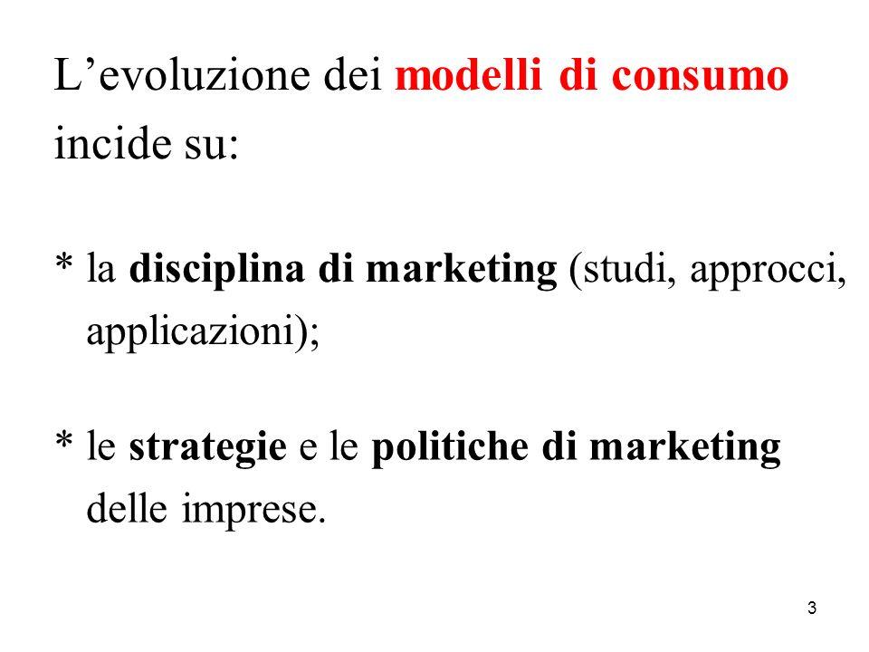 4 Quali variabili incidono sulla formazione e sullevoluzione dei modelli di consumo?