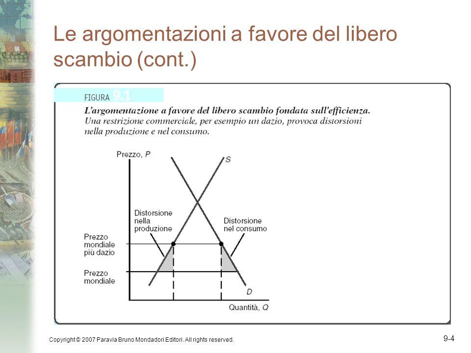 Copyright © 2007 Paravia Bruno Mondadori Editori. All rights reserved. 9-4 Le argomentazioni a favore del libero scambio (cont.)