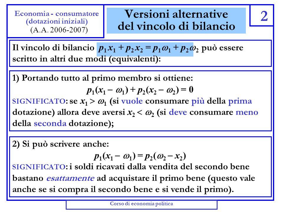 Riscriviamo il vincolo di bilancio Utilizziamo le due espressioni che abbiamo trovato per M e per L nella formula del vincolo di bilancio, e riordiniamo: Questa nuova versione del vincolo di bilancio somiglia moltissimo a quella del LUCIDO 4, e ha lo stesso significato.