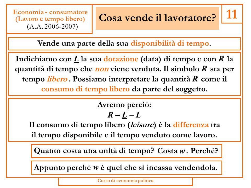 La scelta tra consumo e risparmio 41 Economia - consumatore (Consumo e risparmio) (A.A.