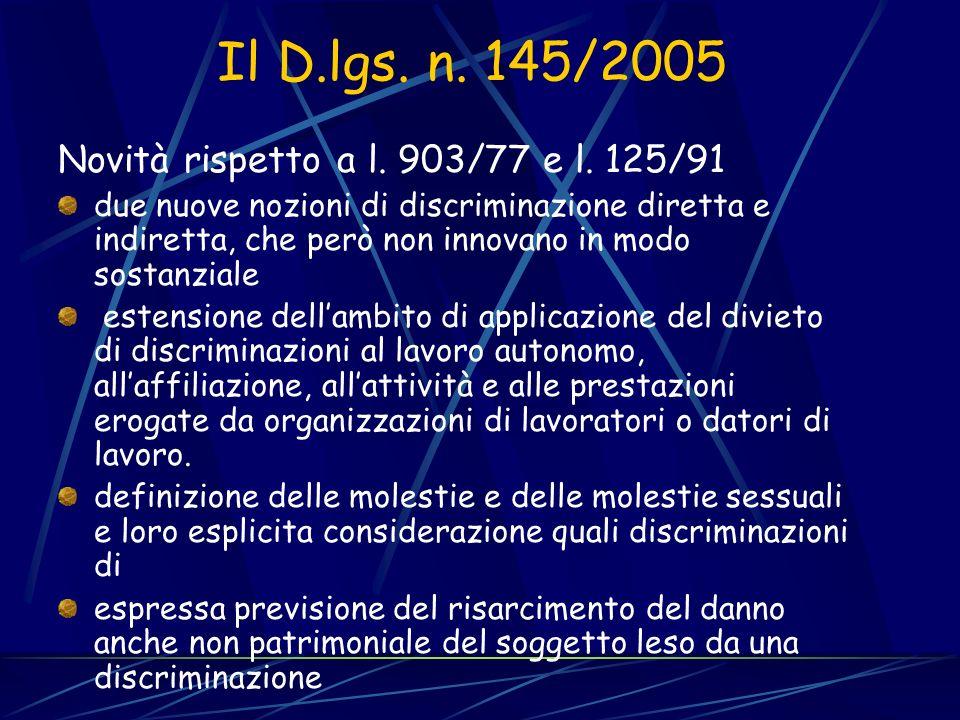 PROBLEMI… Mancanza di riferimenti alle azioni positive Confronto con lart. 4, c. 8, L. 125/1991 Piano di rimozione delle discriminazioni accertate in