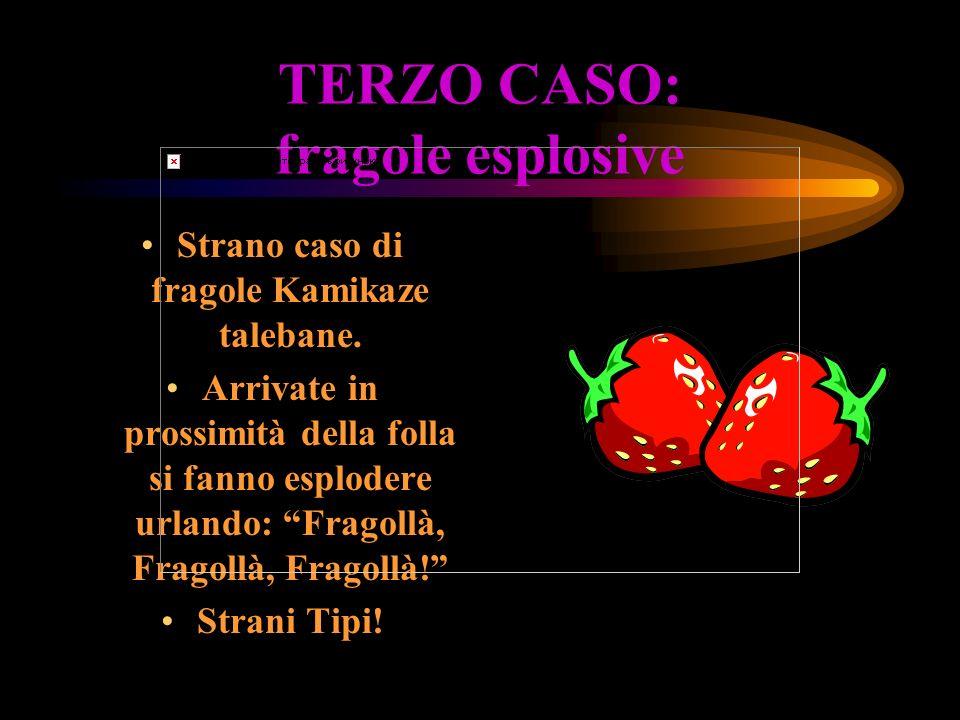 TERZO CASO: fragole esplosive Strano caso di fragole Kamikaze talebane.
