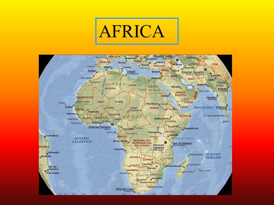 Il continente africano rappresenta il 20% delle terre emerse.