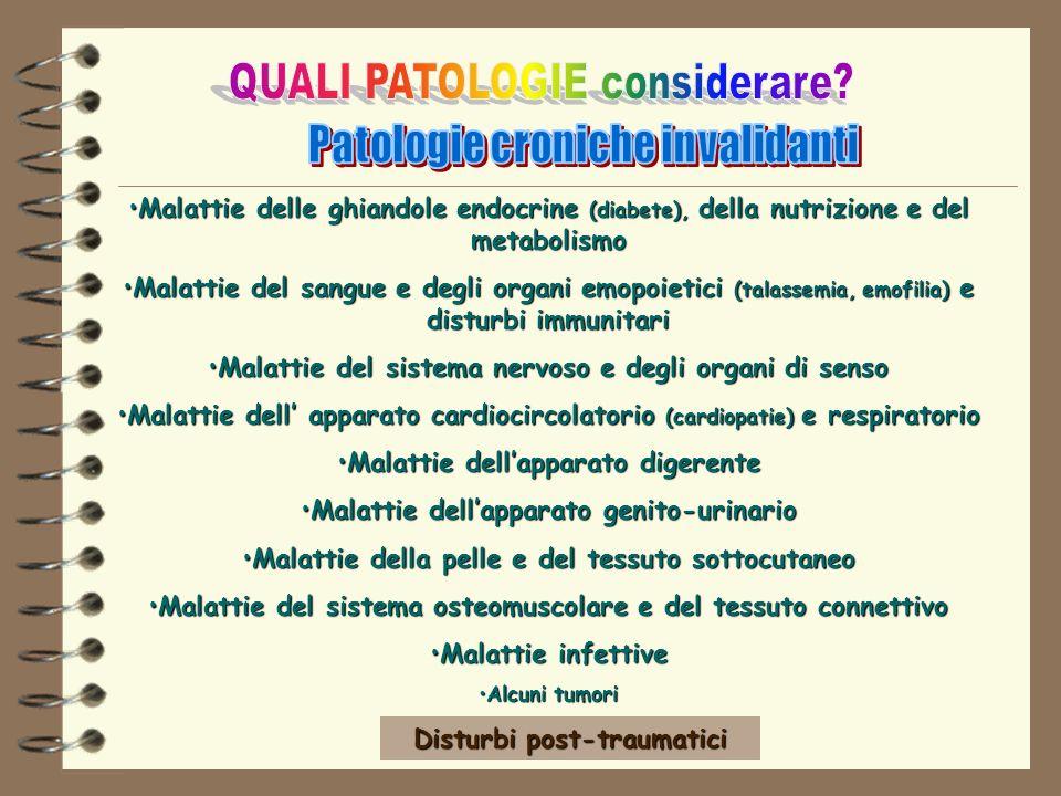 Malattie delle ghiandole endocrine (diabete), della nutrizione e del metabolismoMalattie delle ghiandole endocrine (diabete), della nutrizione e del m