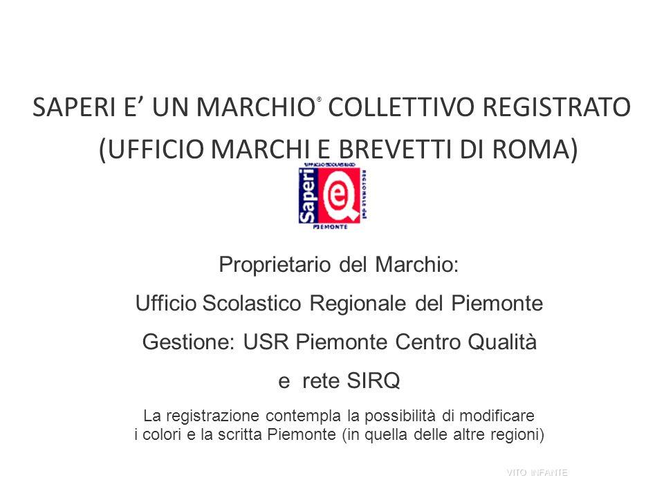 SAPERI E UN MARCHIO ® COLLETTIVO REGISTRATO (UFFICIO MARCHI E BREVETTI DI ROMA) Proprietario del Marchio: Ufficio Scolastico Regionale del Piemonte Ge