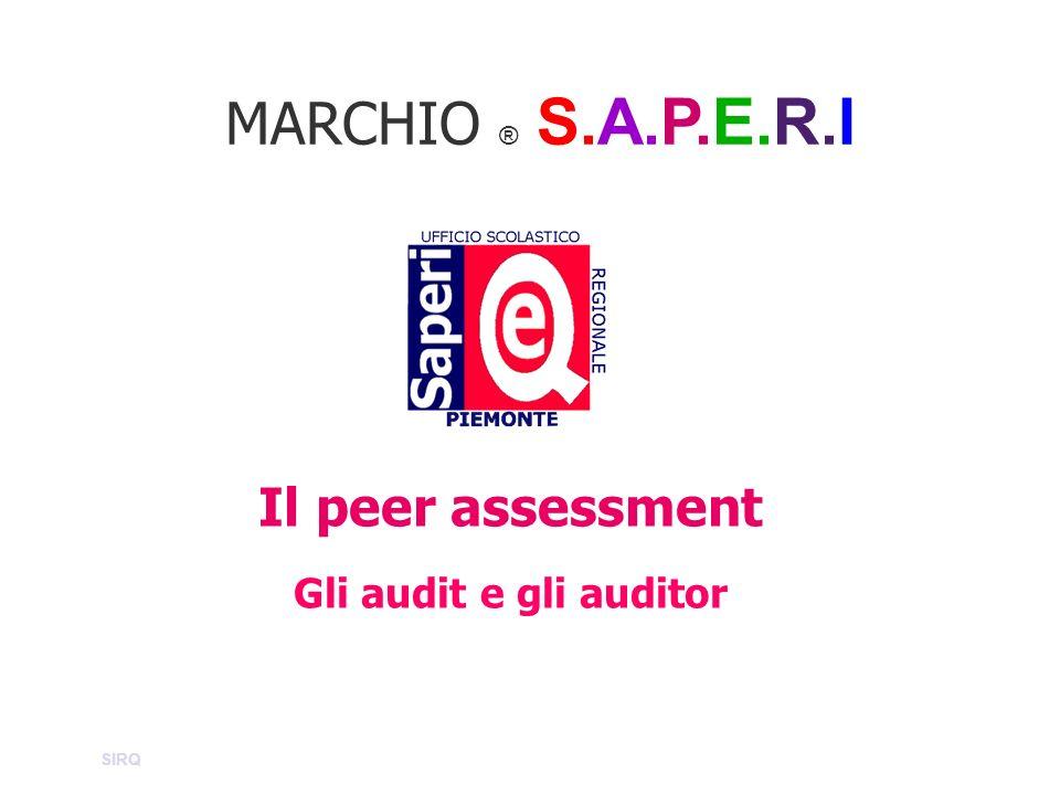 MARCHIO ® S.A.P.E.R.I Il peer assessment Gli audit e gli auditor SIRQ
