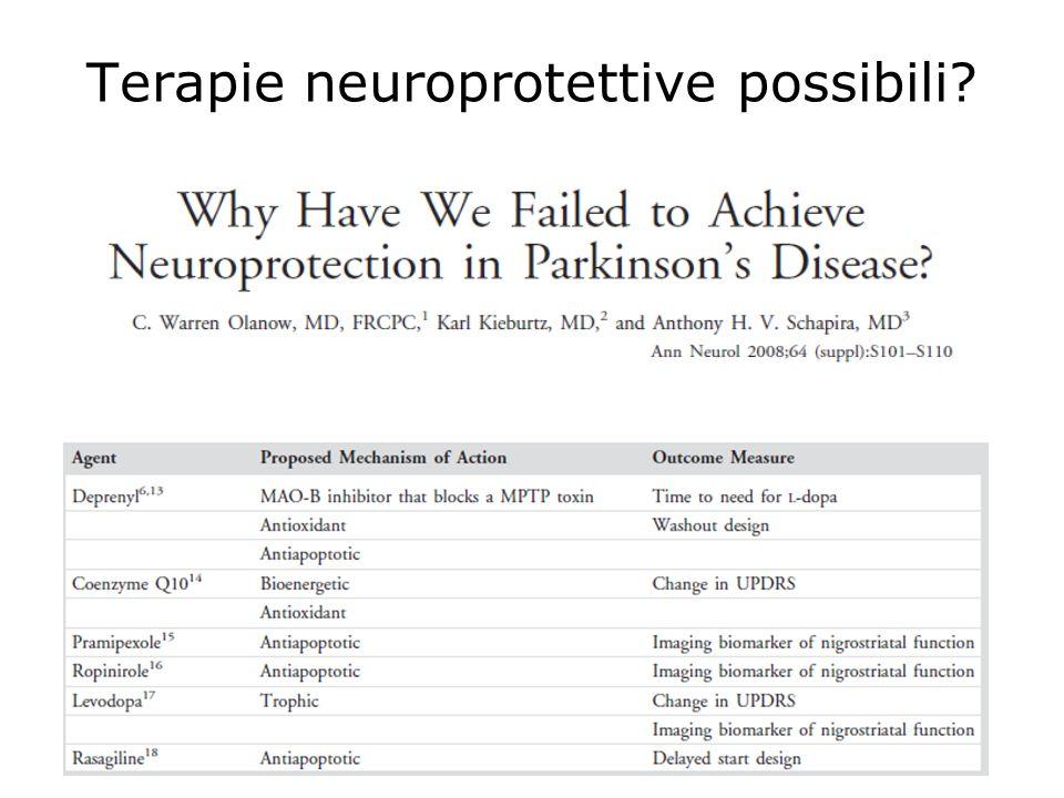 Terapie neuroprotettive possibili?