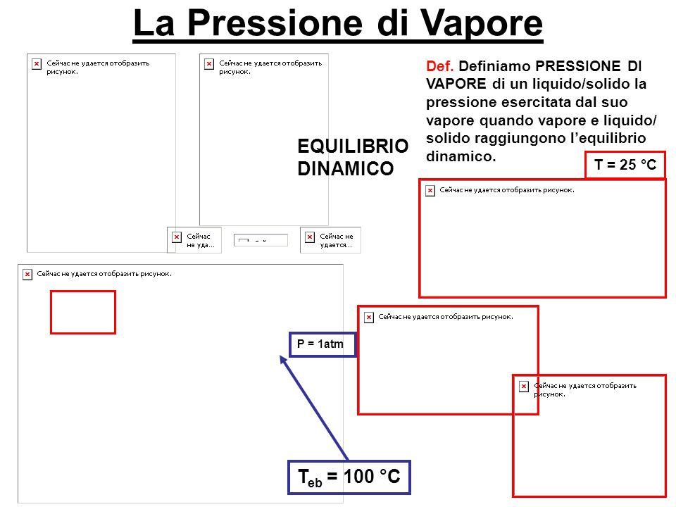 La Pressione di Vapore EQUILIBRIO DINAMICO Def.
