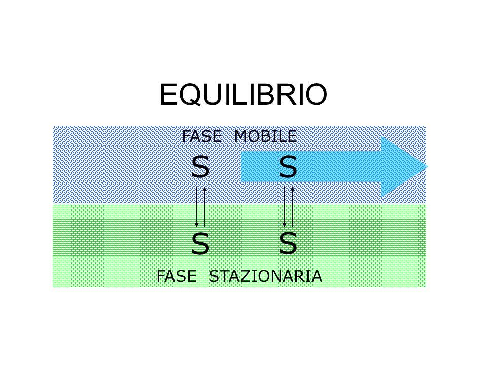 EQUILIBRIO FASE STAZIONARIA FASE MOBILE S S SS
