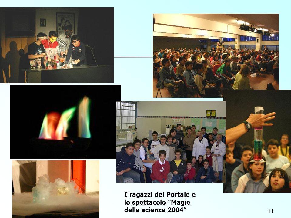 11 I ragazzi del Portale e lo spettacolo Magie delle scienze 2004