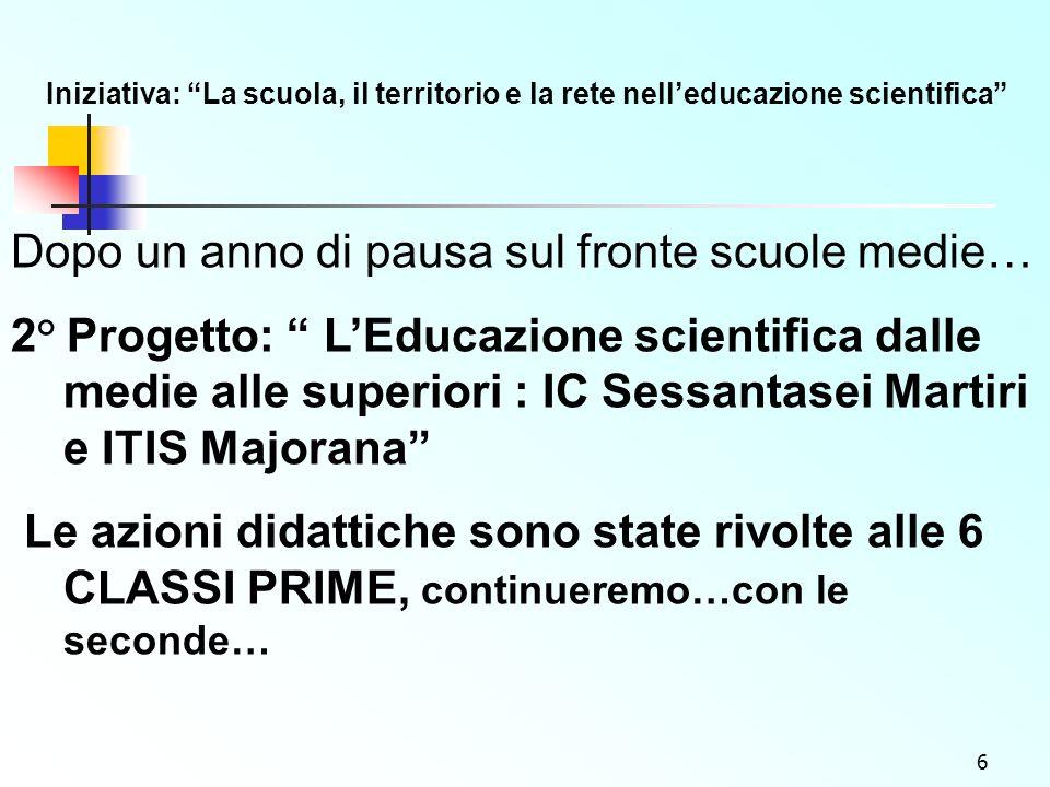 7 3 ° Progetto: Un Portale per la chimica e leducazione scientifica www.itismajo.it/chimica www.itismajo.it/chimica -...