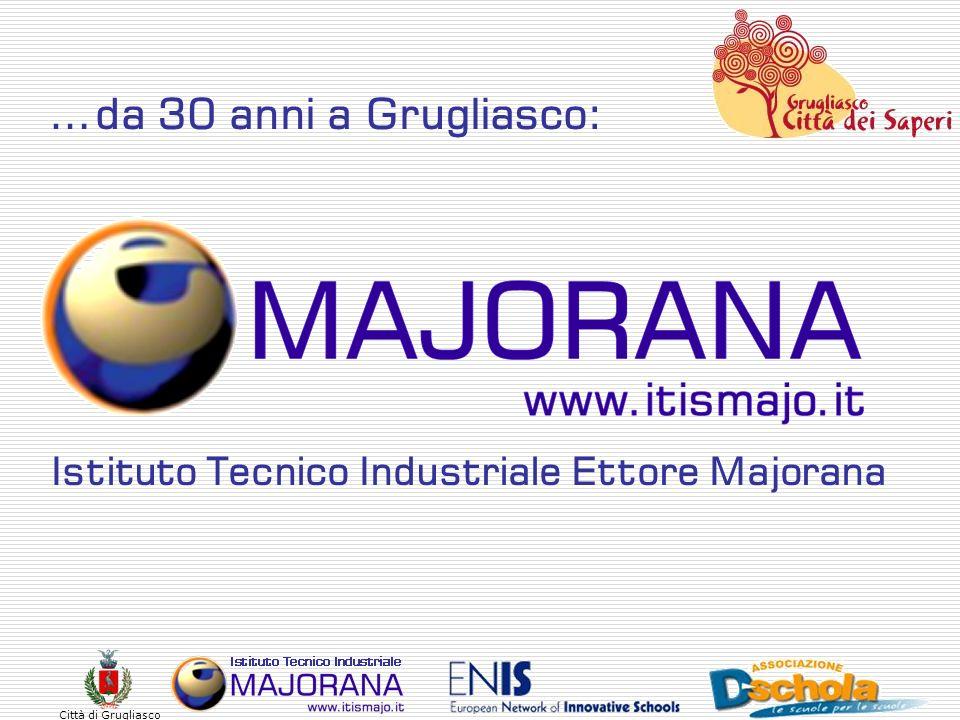 Città di Grugliasco Offerta formativa Biennio Triennio di specializzazione corso diurno Elettronica e telecomunicazioni Di ordinamento Telematica Informatica Di ordinamento IG2 (grafica e videogiochi) WEB and MOBILE IM2 (musica e multimedia)