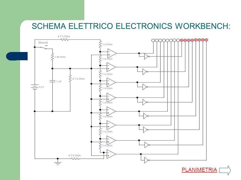 SIMULAZIONE MOVIMENTO LED: Carica condensatore Scarica condensatore SCHEMA ELETTRICO