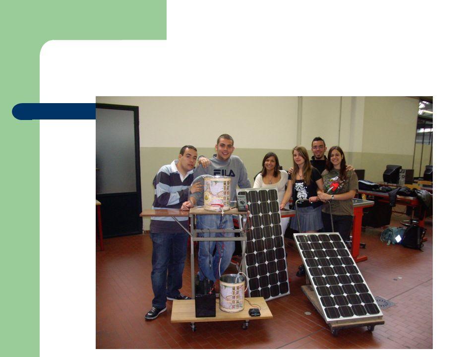 il nostro PROTOTIPO, realizzato in laboratorio pozzo regolatore di carica batteria batteria modulo fotovoltaico serbatoio