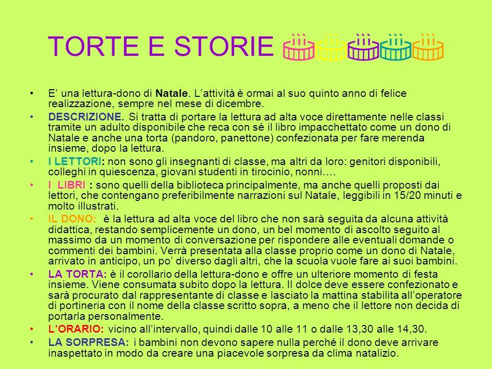 TORTE E STORIE E una lettura-dono di Natale.