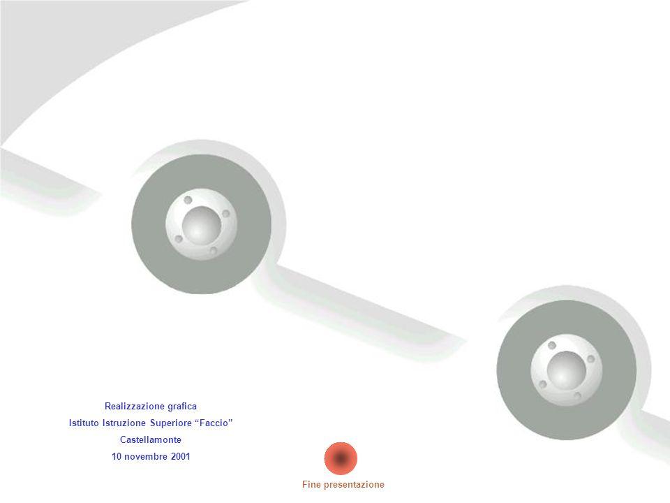 Realizzazione grafica Istituto Istruzione Superiore Faccio Castellamonte 10 novembre 2001 Fine presentazione