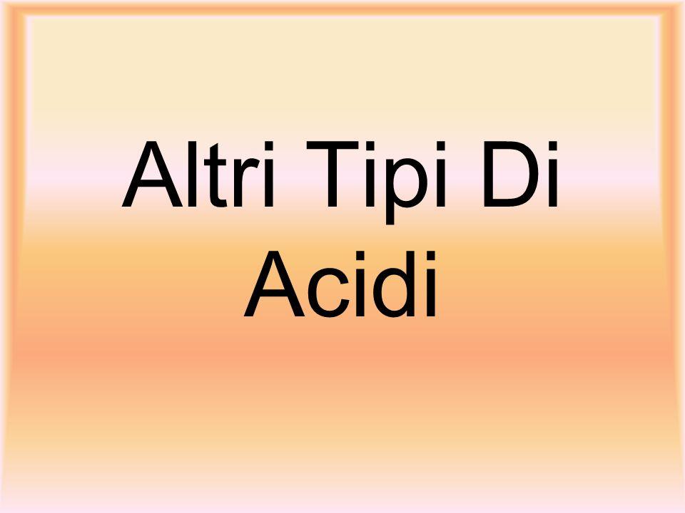 Altri Tipi Di Acidi