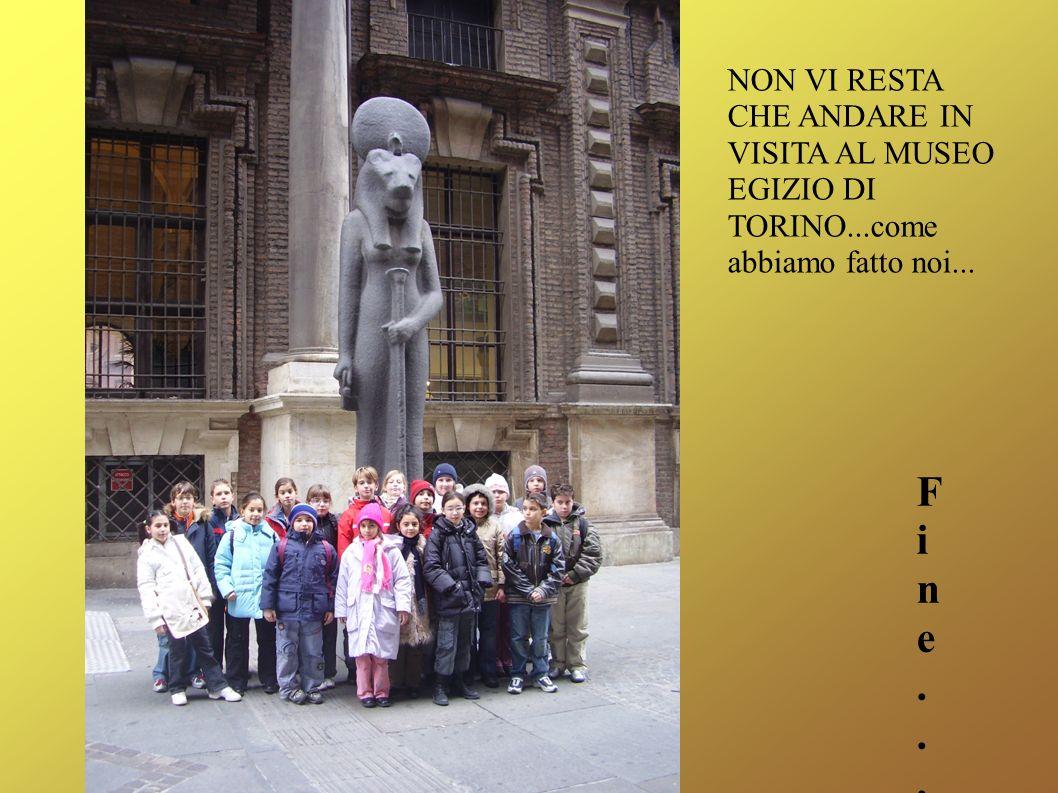 NON VI RESTA CHE ANDARE IN VISITA AL MUSEO EGIZIO DI TORINO...come abbiamo fatto noi... Fine...Fine...