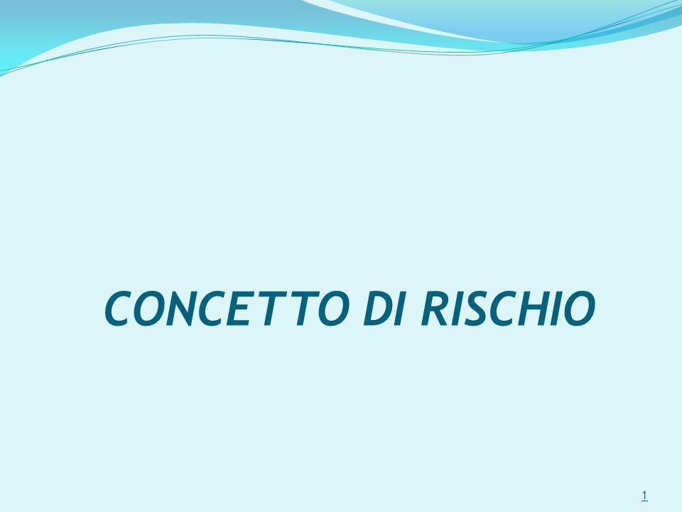 CONCETTO DI RISCHIO 1