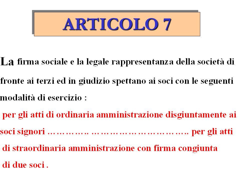 ARTICOLO 6 Per il fabbisogno finanziario della società i soci potranno provvedere mediante versamenti in conto capitale o con finanziamenti a titolo d