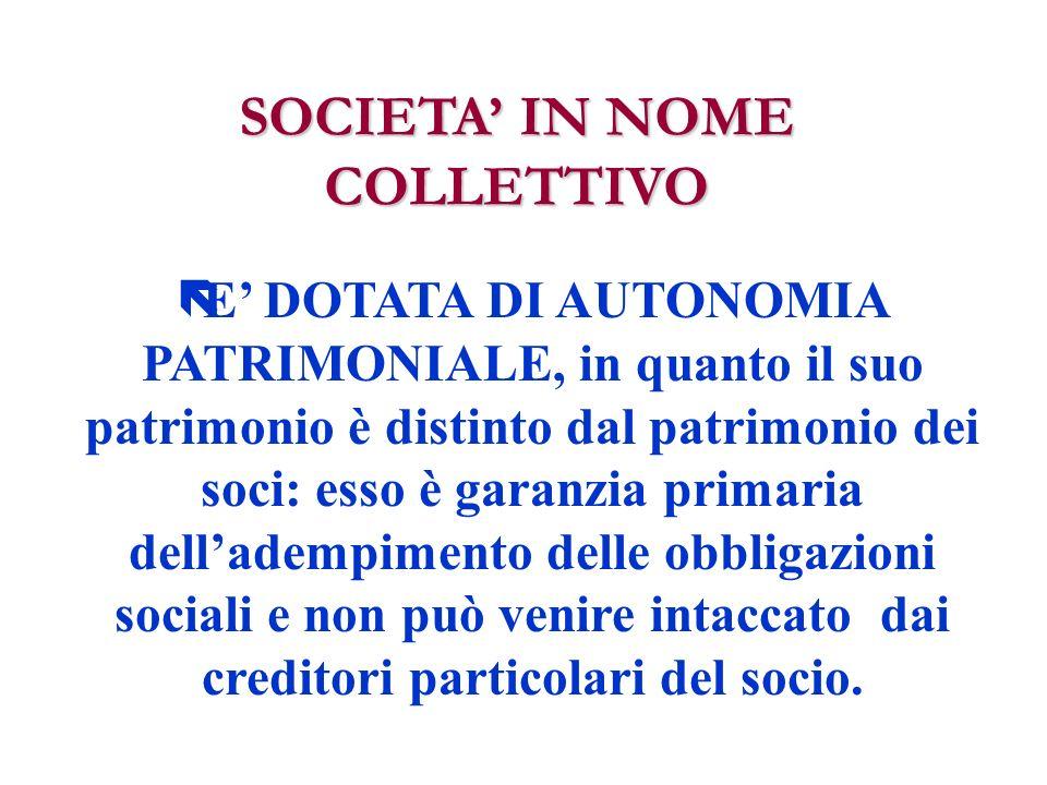 ARTICOLO 2 Il signor Mario ROSSI è socio accomandatario mentre il signor Michele VERDI è socio accomandante con responsabilità limitata alla quota conferita.