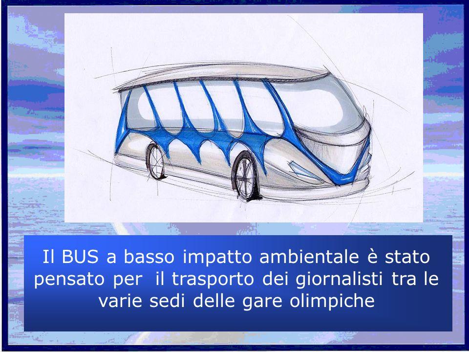 Il BUS a basso impatto ambientale è stato pensato per il trasporto dei giornalisti tra le varie sedi delle gare olimpiche
