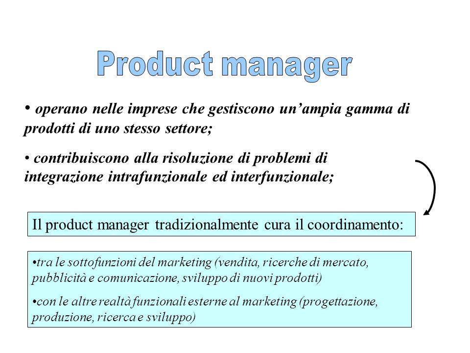 operano nelle imprese che gestiscono unampia gamma di prodotti di uno stesso settore; contribuiscono alla risoluzione di problemi di integrazione intr