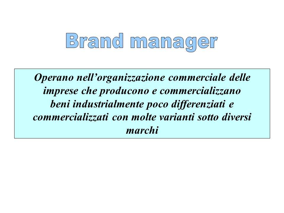 Operano nellorganizzazione commerciale delle imprese che producono e commercializzano beni industrialmente poco differenziati e commercializzati con m