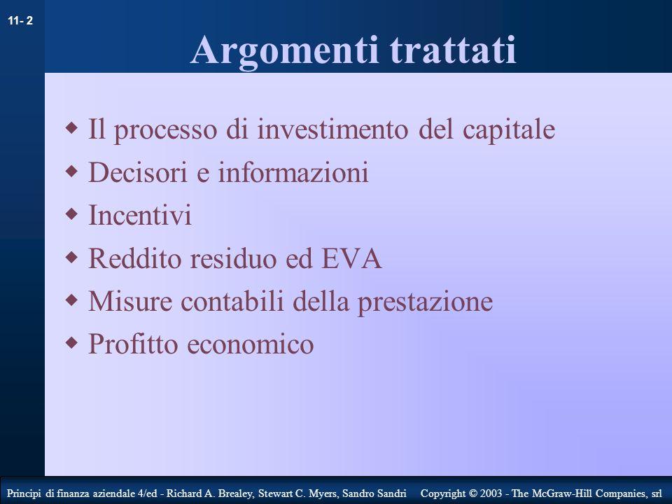 11- 3 Principi di finanza aziendale 4/ed - Richard A.