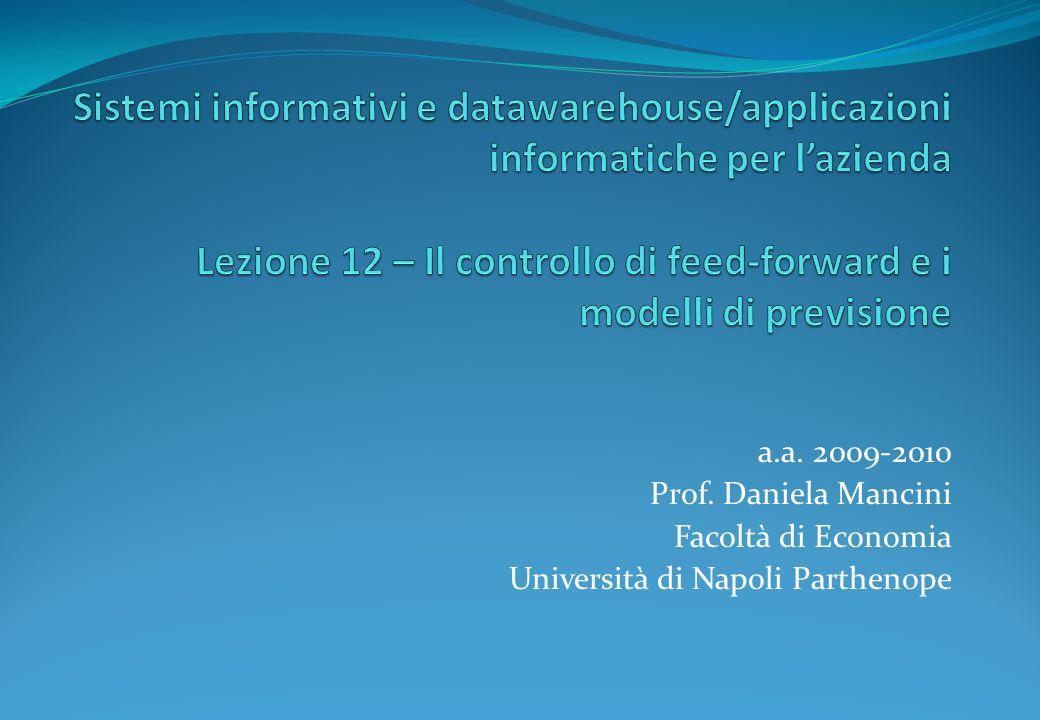 a.a. 2009-2010 Prof. Daniela Mancini Facoltà di Economia Università di Napoli Parthenope