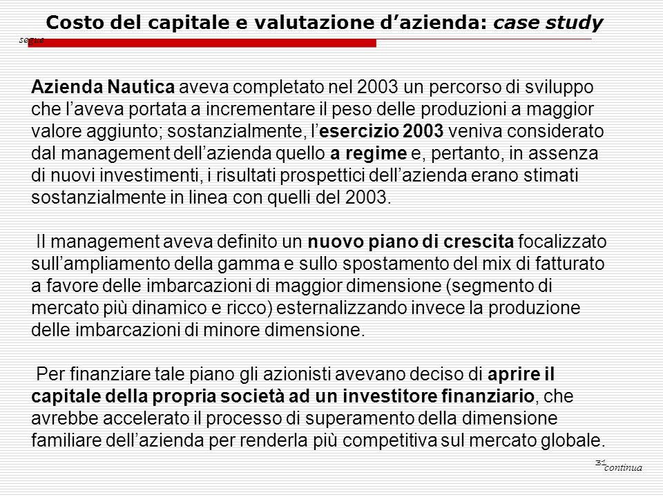 31 continua segue Azienda Nautica aveva completato nel 2003 un percorso di sviluppo che laveva portata a incrementare il peso delle produzioni a maggi