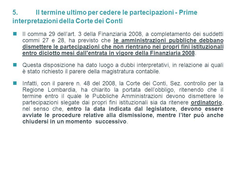 13 / Doc ID: L_LIVE_EMEA2:3078832v1 © Simmons & Simmons 2008 Il comma 29 dellart. 3 della Finanziaria 2008, a completamento dei suddetti commi 27 e 28