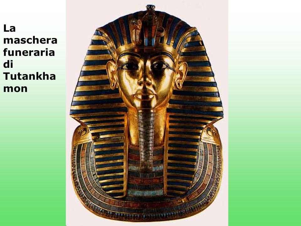 La maschera funeraria di Tutankha mon