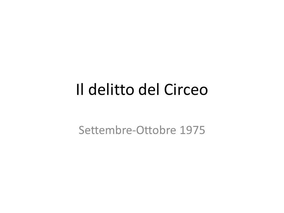 Il delitto del Circeo Settembre-Ottobre 1975