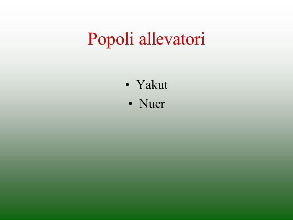 Popoli allevatori Yakut Nuer
