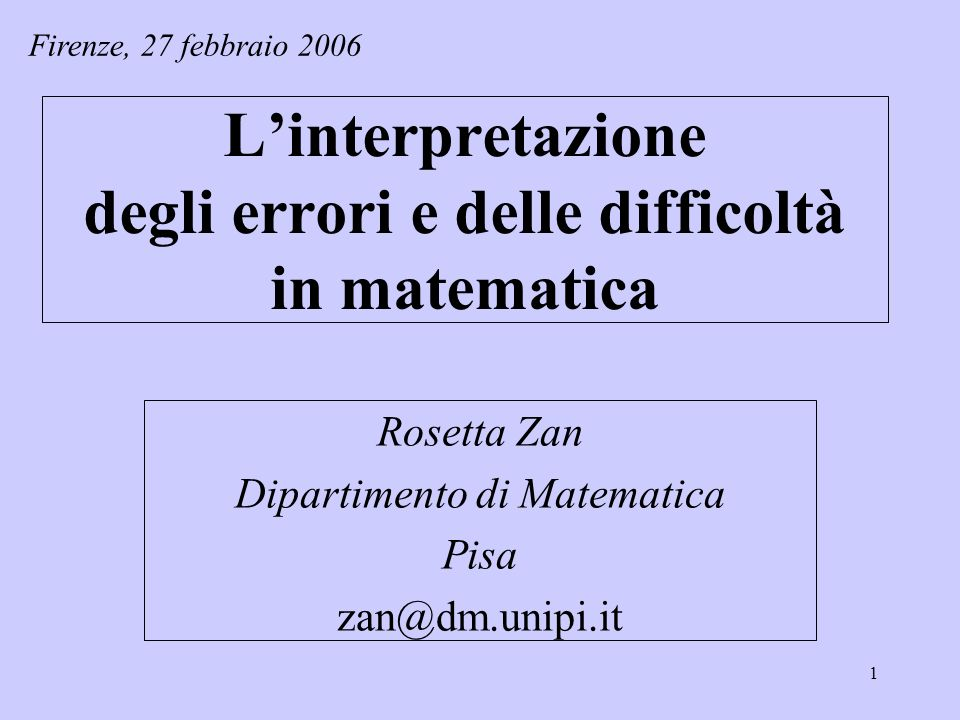 42 Lallievo interpreta…procedure Errori sistematici.