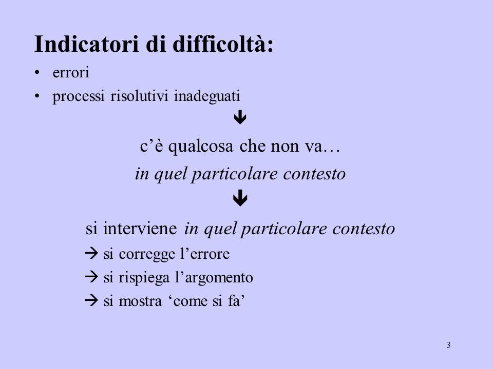 64 SU DI SE SUGLI OBIETTIVI dellinsegnamento della matematica SULLE ASPETTATIVE della famiglia / dellinsegnante...