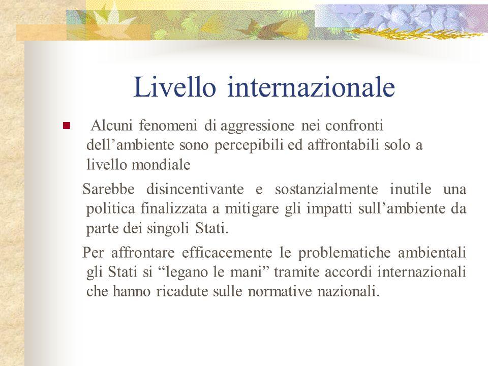 3) Patti internazionali E il caso più frequente.