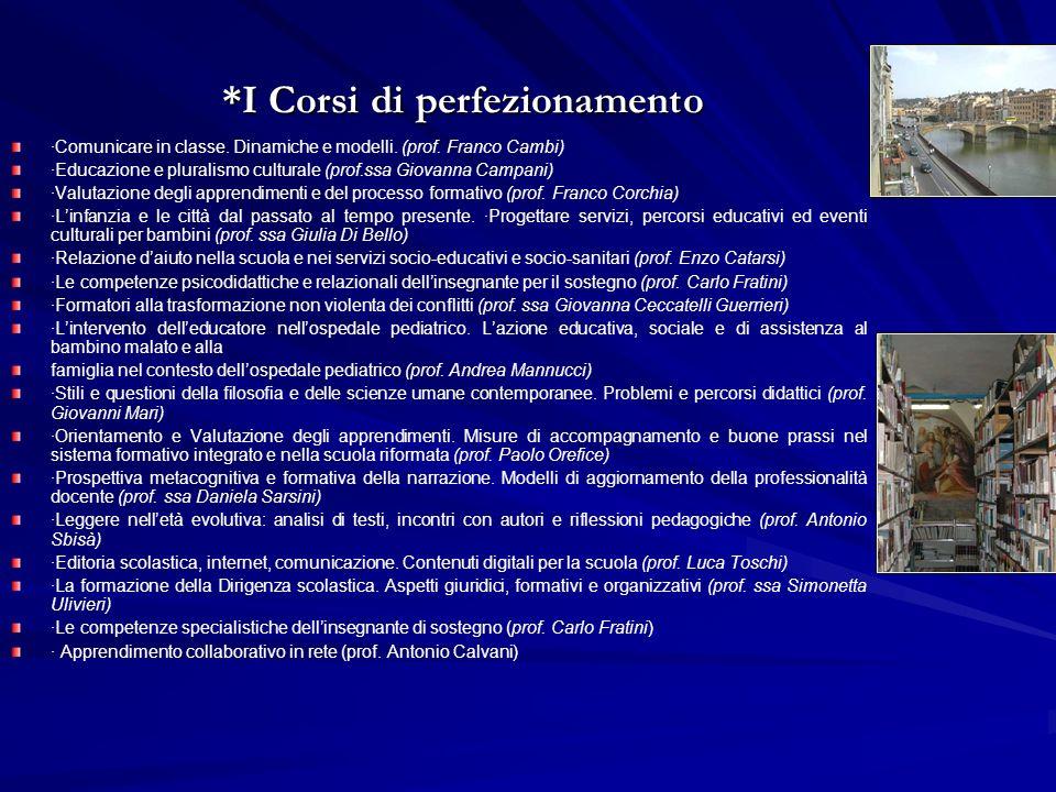 *I Corsi di perfezionamento ·Comunicare in classe.