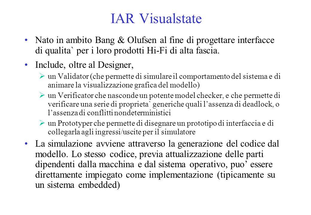 IAR Visualstate Nato in ambito Bang & Olufsen al fine di progettare interfacce di qualita` per i loro prodotti Hi-Fi di alta fascia.