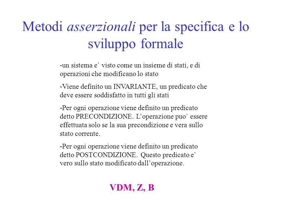 Risultati della simulazione La simulazione guidata dallo scenario fornito sotto forma di MSC permette di stabilire se tale scenario e` una computazione ammissibile dal modello oppure tale computazione non e` possibile.