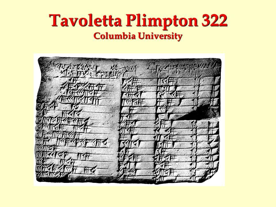 Tavoletta Plimpton 322 Columbia University