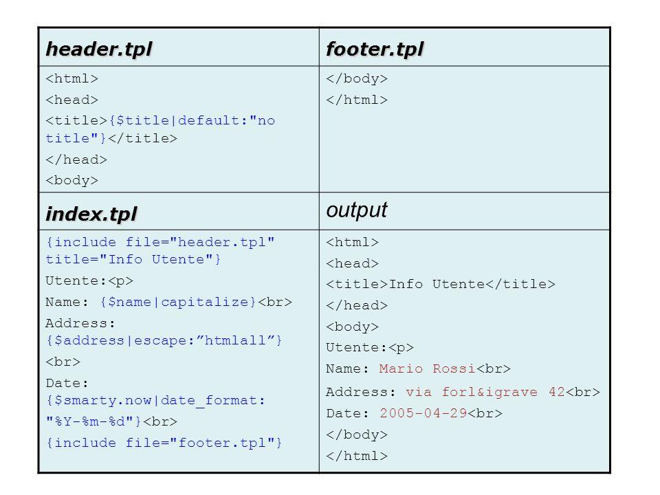 header.tplfooter.tpl {$title|default: