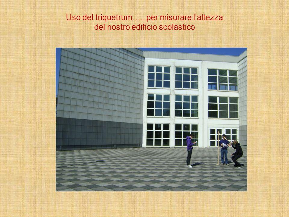 Uso del triquetrum….. per misurare laltezza del nostro edificio scolastico