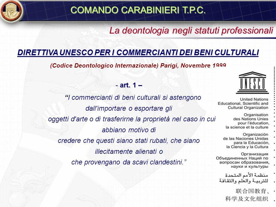 La deontologia negli statuti professionali CODICE DI DEONTOLOGIA I.C.O.M. CODICE DI DEONTOLOGIA I.C.O.M. Barcellona, Spagna, il 6 luglio 2001 - 3.2 Ac