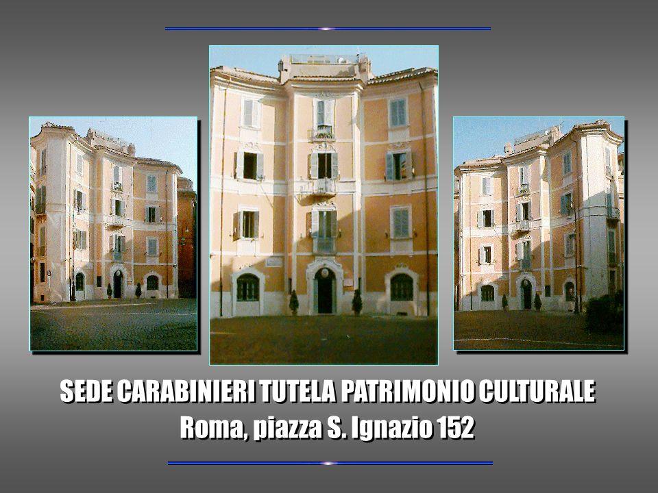 SEDE CARABINIERI TUTELA PATRIMONIO CULTURALE Roma, piazza S.
