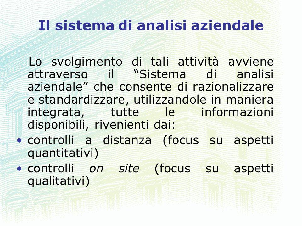 25 Il sistema di analisi aziendale Lo svolgimento di tali attività avviene attraverso il Sistema di analisi aziendale che consente di razionalizzare e