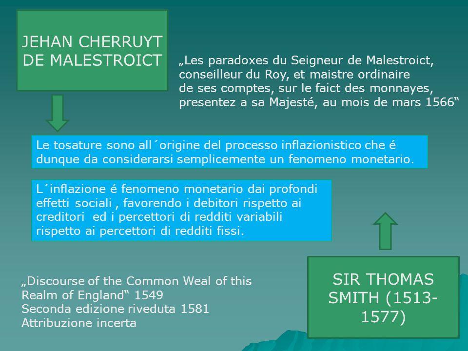 JEHAN CHERRUYT DE MALESTROICT Les paradoxes du Seigneur de Malestroict, conseilleur du Roy, et maistre ordinaire de ses comptes, sur le faict des monn